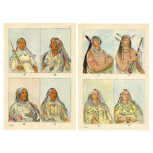 North American Indian Portraits, Pair