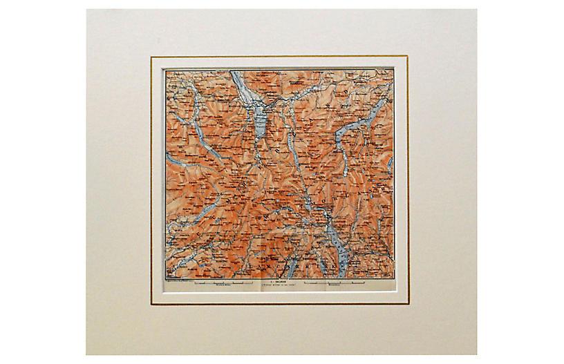 English Lake District Map, 1910