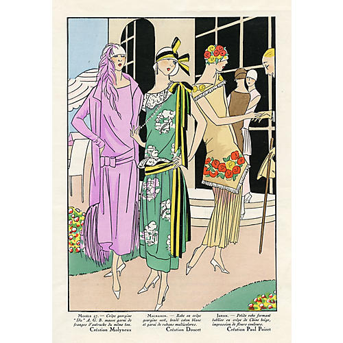 Art Deco Fashions for a Garden Party