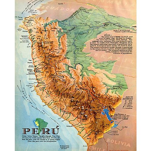 Business Map of Peru, 1938
