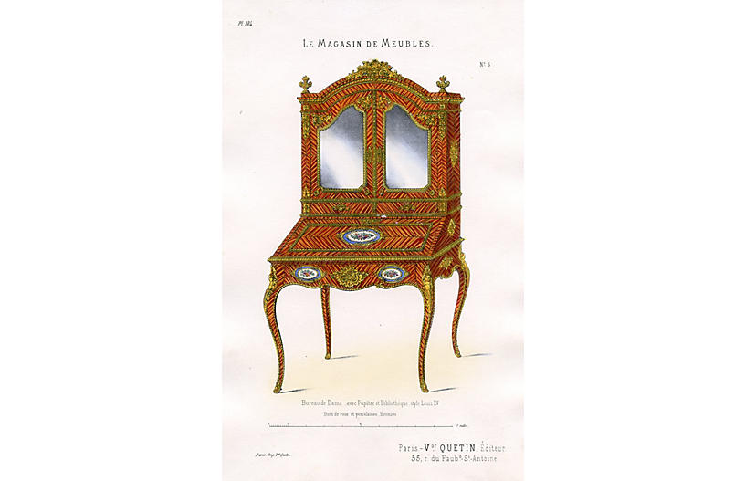 Furniture for a Lady's Office, 1860s