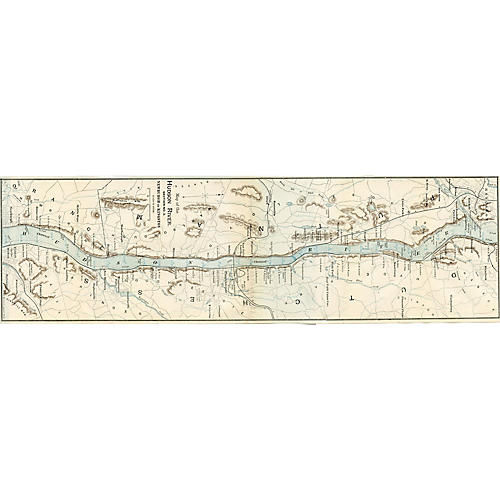Newburgh to Kingston, 1906 New York Map