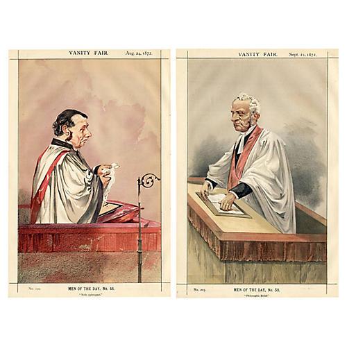 19th-C. British Clergyman Portraits, S/2