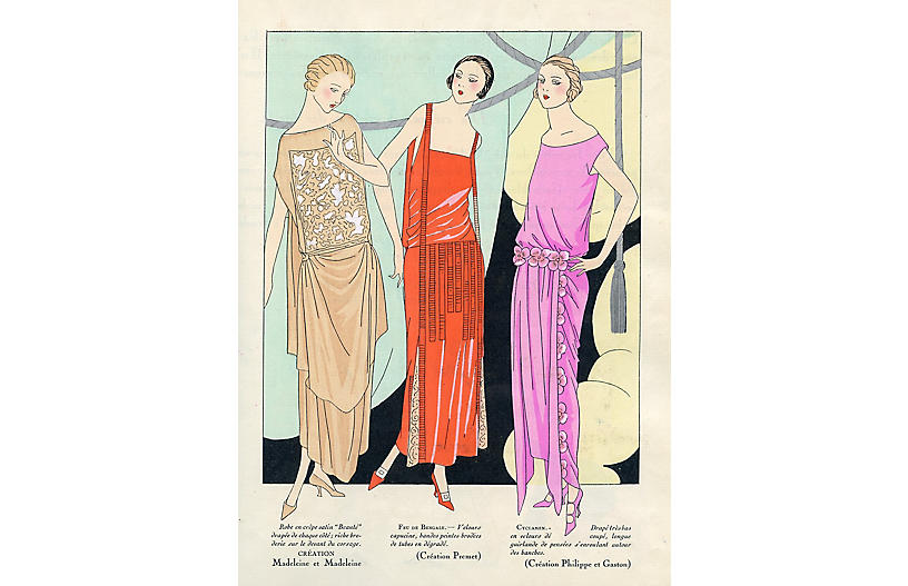 Parisian Holiday Fashions, 1922