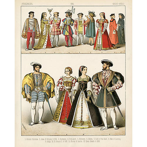 French Fashions of the 16th-C.