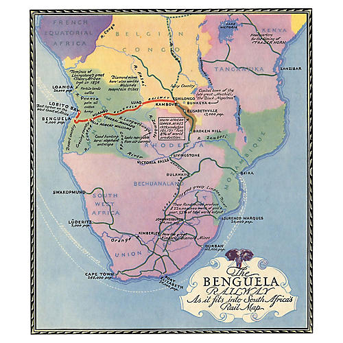 Benguela Railway in South Africa, 1931