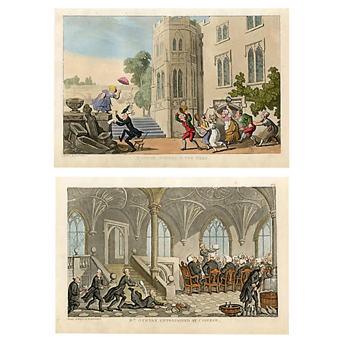 1850s Tours of Dr. Syntax Prints, Pair