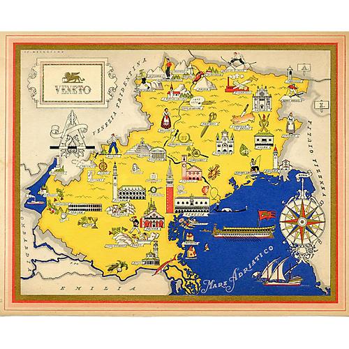 Italian Regional Map of Venice, 1941