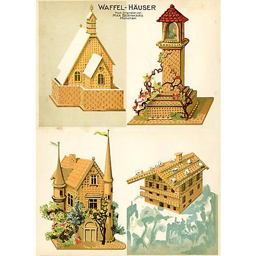 German Baking Print - Waffle Houses