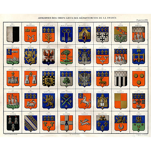 19th-C. French Coats of Arms
