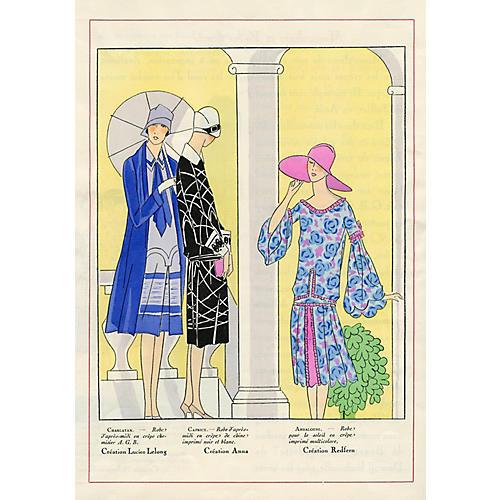 Art Deco Spring Fashions, 1926
