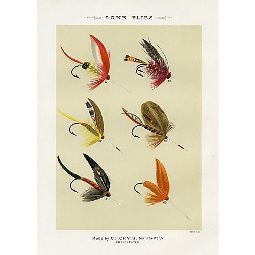 Lake Fishing Flies by Orvis, 1892