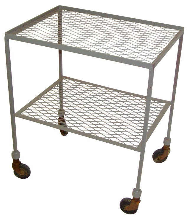 Industrial Iron Rolling Cart
