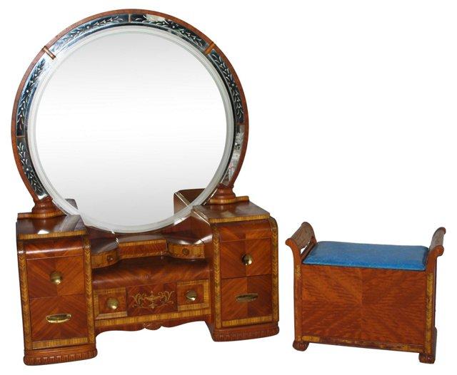 Art Deco Vanity & Stool