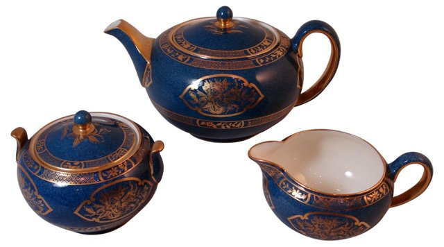Wedgwood Blue Tea Set, 3 Pcs