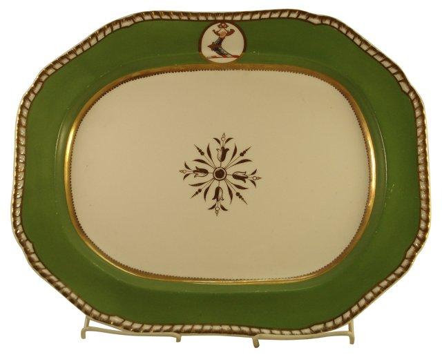 Antique Spode Armorial Crest Platter