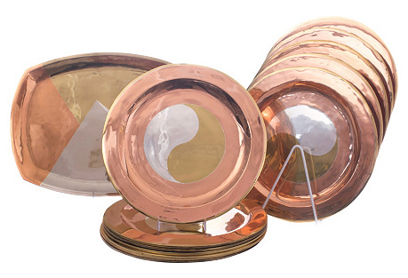 Sterling & Copper Chargers, Platter