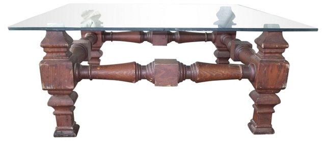 Folk-Style Wooden Coffee Table