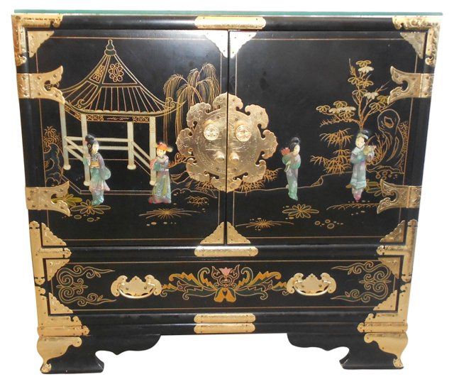 Asian-Style Stone Chest