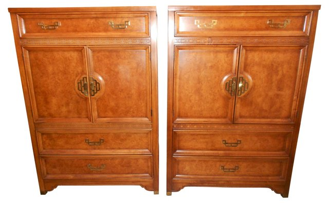 Henry Link Mandarin Dressers, Pair