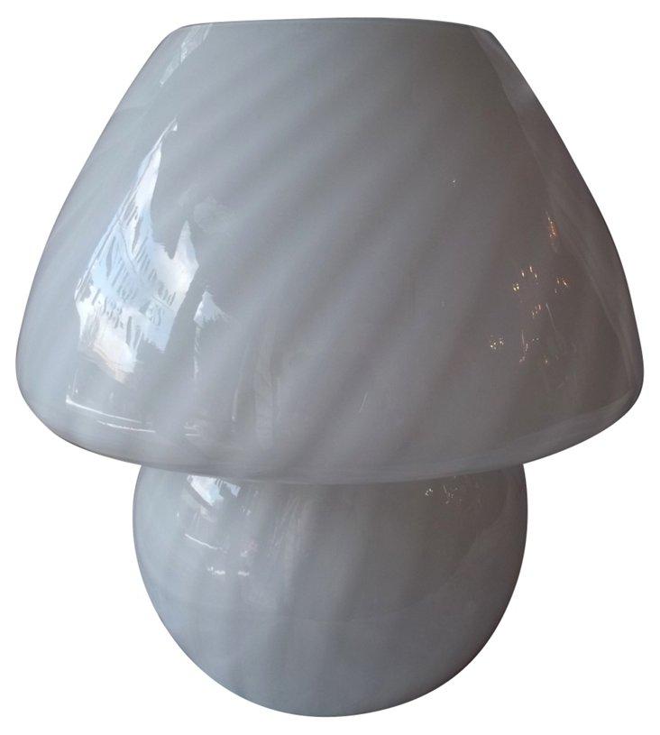 Murano Mushroom Glass Lamp