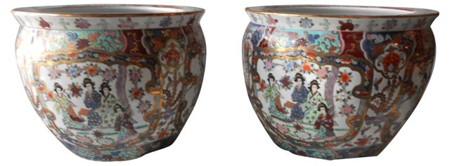Chinese Planters, Pair