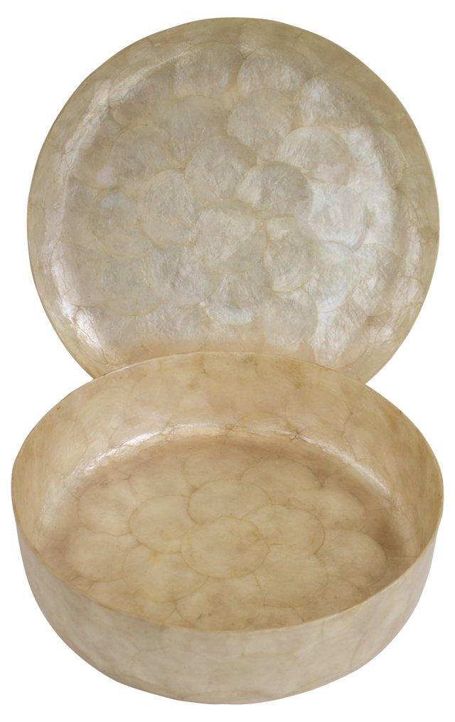 Capiz Shell Tray & Bowl