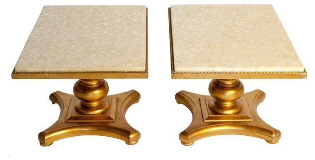 Hollywood Regency Accent Tables, Pair