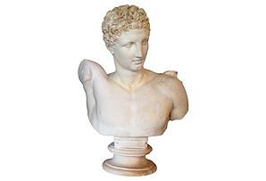 Large Plaster Hermes Bust