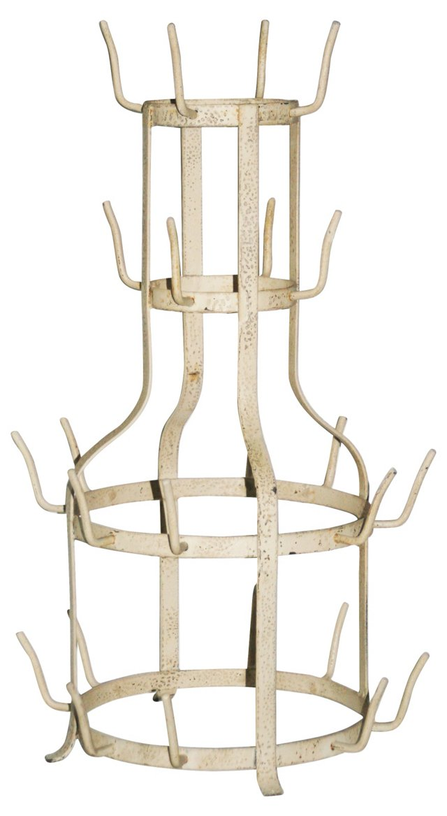 French Bottle Drying Rack