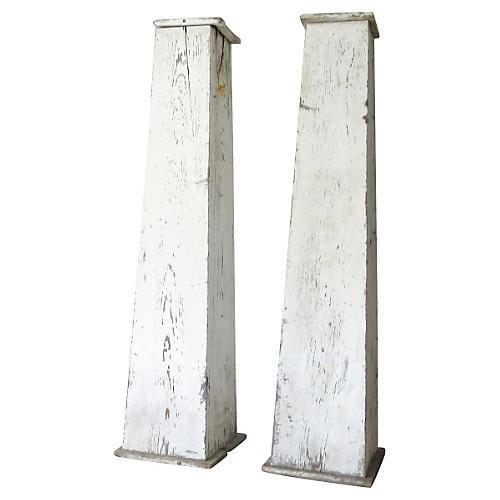 19th-C. Architectural Columns, Pair