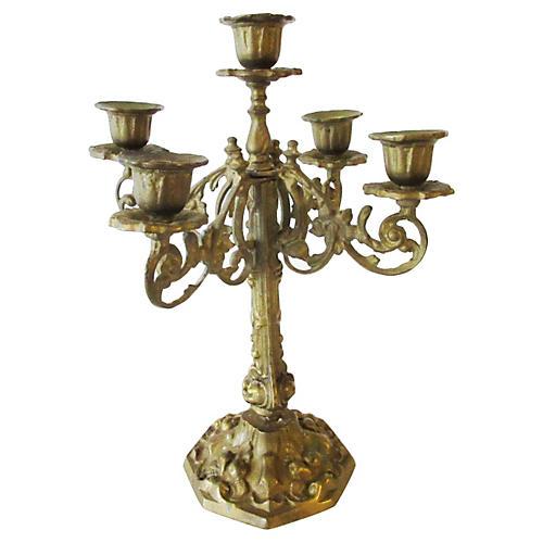 Ornate Brass Candelabrum