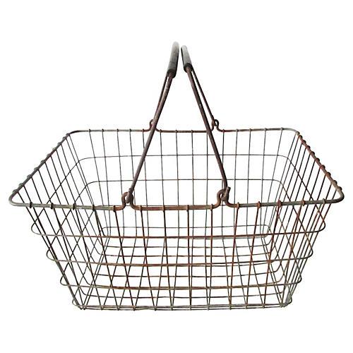 French Double-Handled Market Basket