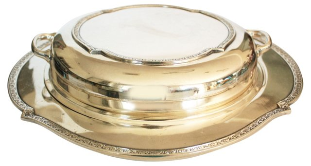 Silverplate Covered Serving Dish
