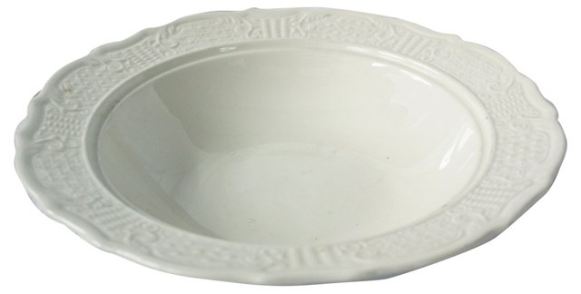Ironstone Serving Bowl