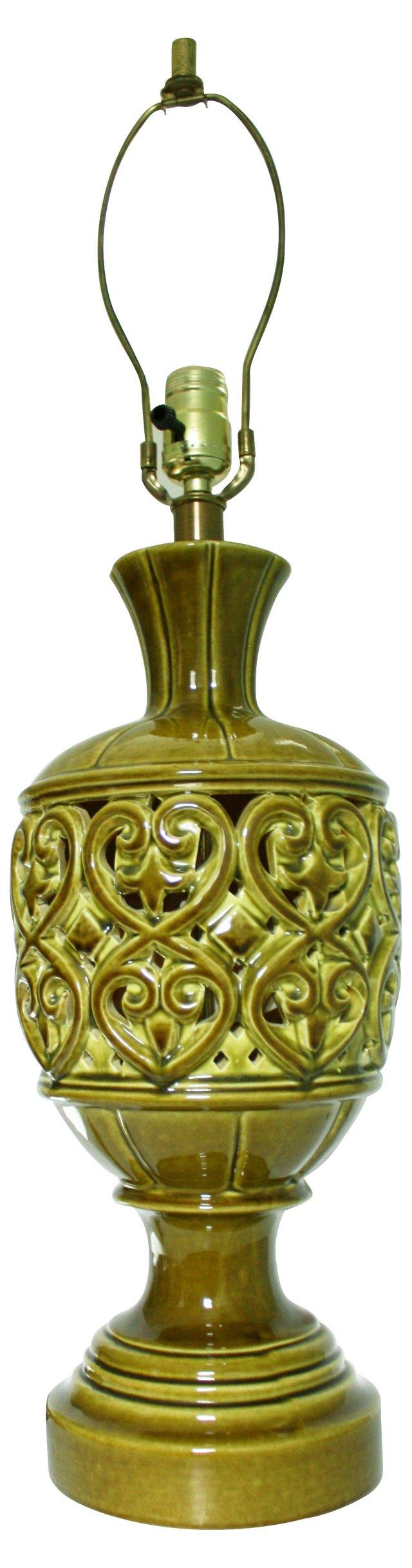 Pierced Porcelain Lamp