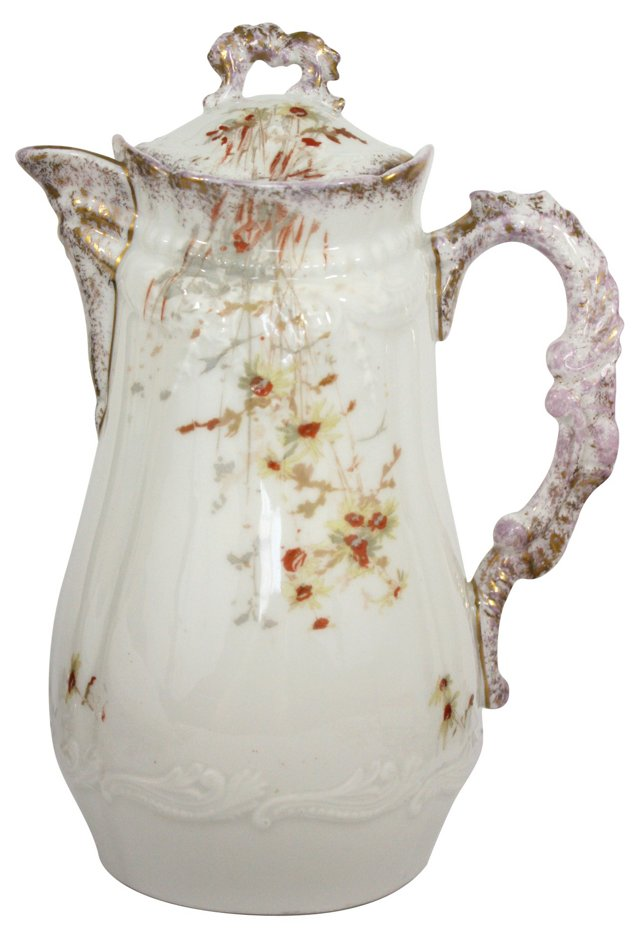 Limoges Hand-Painted Coffee Pot