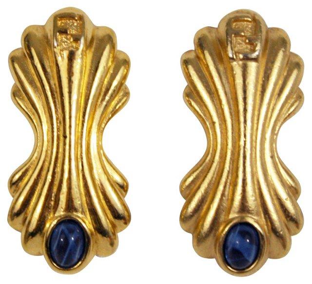 Fendi Blue Stone Earrings