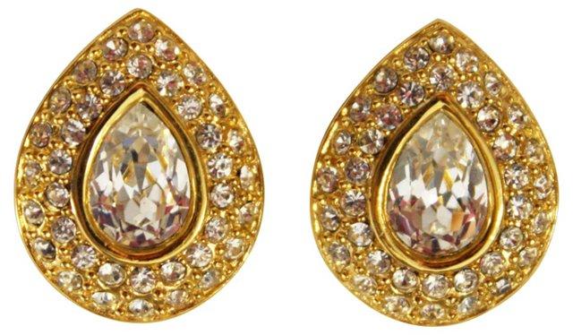 Napier Crystal Teardrop Earrings