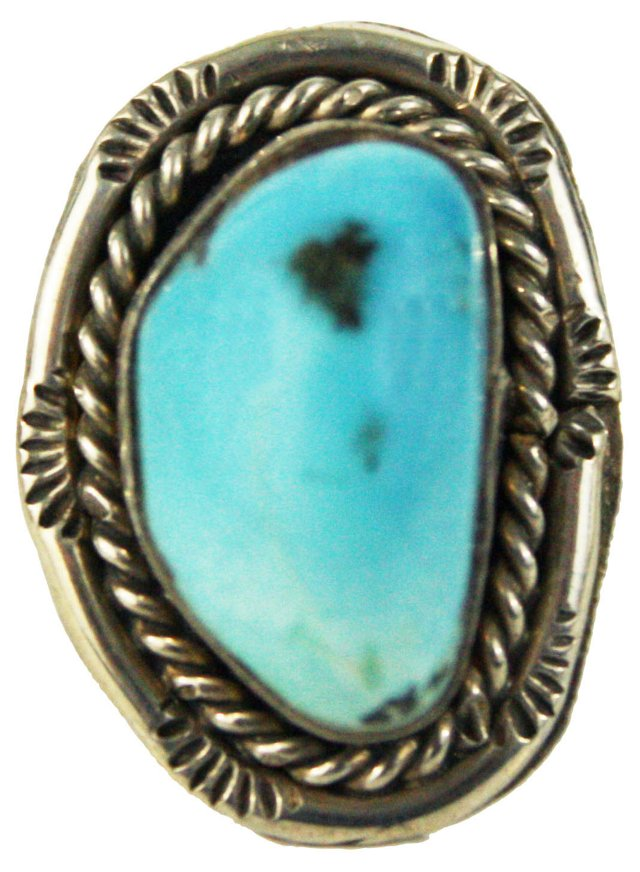 Mexican Sterling &   Turquoise Ring