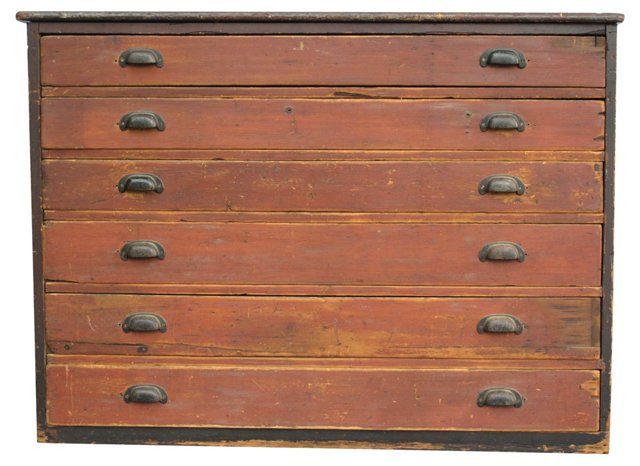 Early-20th-C. Print Chest