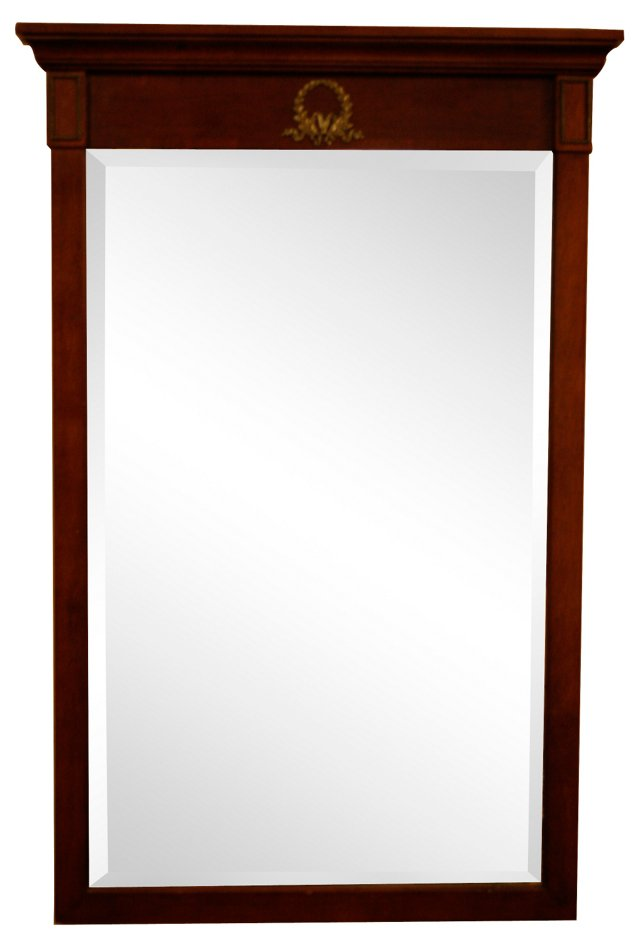 Empire-Style Wood Framed Mirror