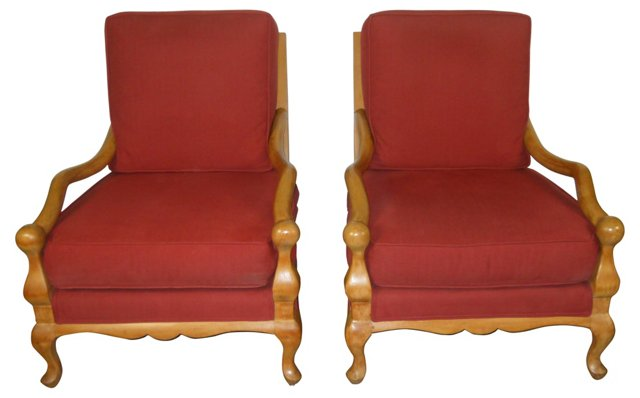 Ladderback    Chairs, Pair