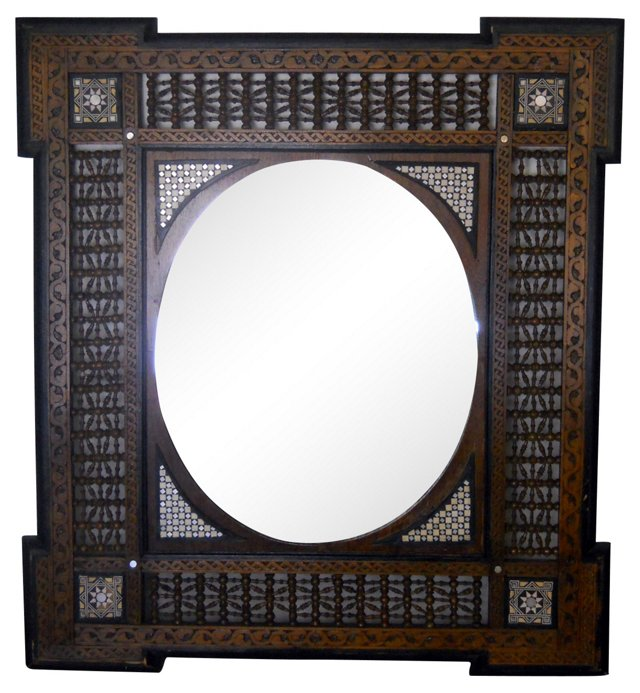 Carved & Inlay Mirror