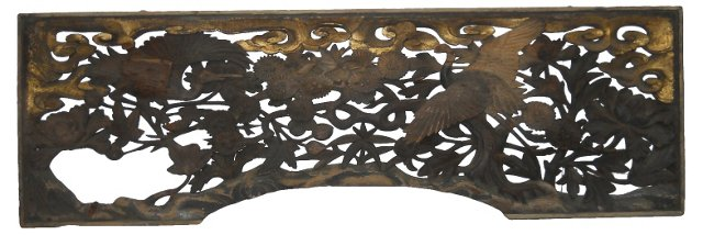 Asian Overmantel Wall Carving