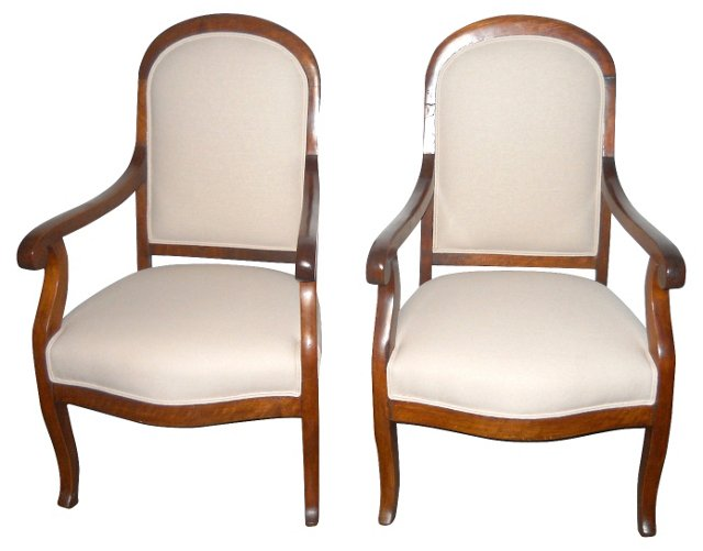 1920s French Armchairs, Pair