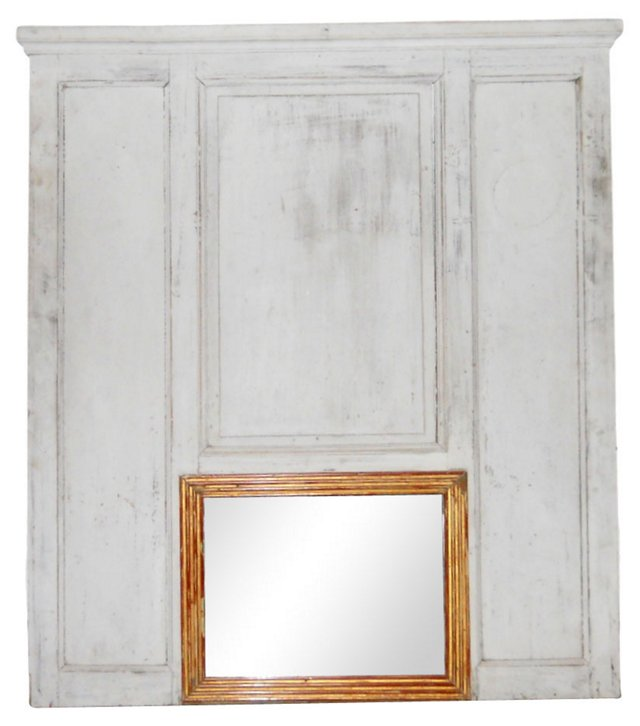 French Gray Mirror
