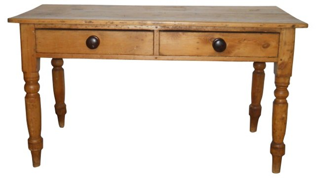 French  Pine Writing Table