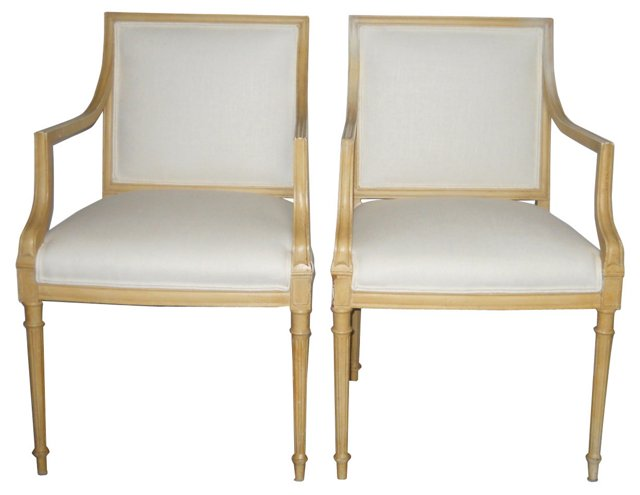 1940s  French Chairs, Pair