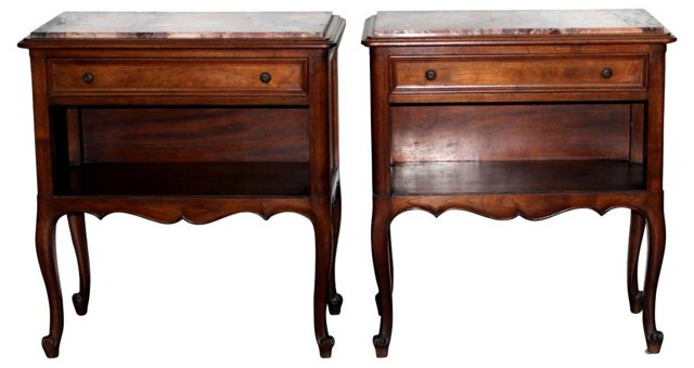 French   Nightstands, Pair